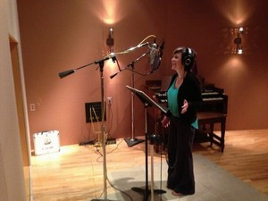 Kelly Recording Background Vocals